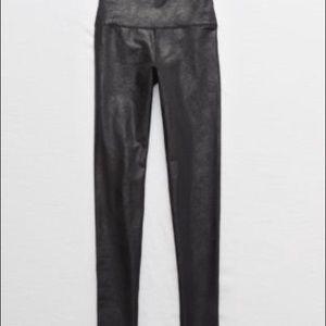 Aerie Crackle shine high waist leggings